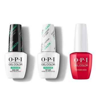 OPI - GelColor Combo - Base, Top & Red Heads Ahead