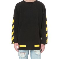 Off-White c/o Virgil Abloh | Black Contrast Arrows Cotton-jersey Sweatshirt for Men | Lyst