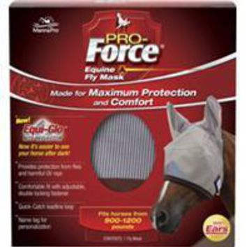 Manna Pro - Fly - Pro-force Equine Fly Mask With Ears & Equi-glo