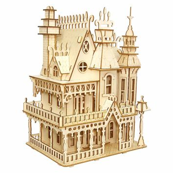 Fantasy Villa crafts Model Kids toys 3D Puzzle wooden toys Wooden Puzzle Educational toys for Children Christmas Gift