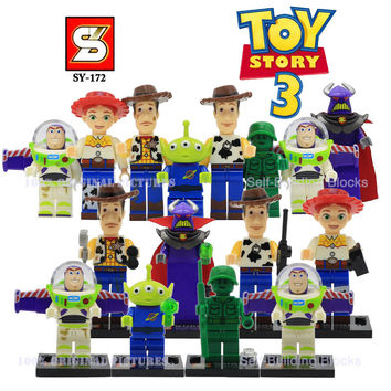 SY172 Toy Story Buzz Light-year Woody Emperor Zurg Squeezy Aliens Building Blocks Bricks Compatible With Legoes Christmas Gift