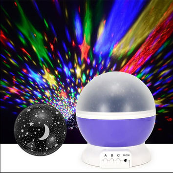 LED Mini Sky Projector Color Changing Rotation Projection Starry Star lava Lamp USB/Battery Home Decor Baby Kids