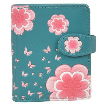 Shagwear Womens Small Wallets With Zipper Pocket Wings and Feathers Designs