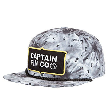 CAPTAIN FIN Workers Mens Snapback Hat, Grey