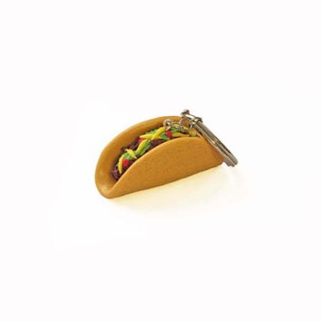Taco Keychain - Food Keychain - Polymer Clay Keychain - Taco Key Ring - Mexican Food Keychain - Polymer Clay Food - Cute Keychain