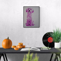 Pop art illustration: Pink Dog