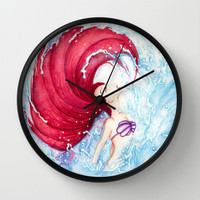 Ariel Wall Clock by Susaleena