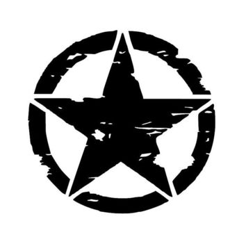 15cm*15cm ARMY Star Graphic Decals Motorcycle Car Stickers Vinyl Car-styling S6-3621