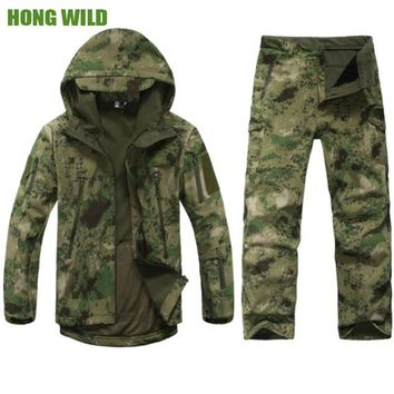 Hunting clothes  Outdoor  Lurker Shark Skin tad v4 Tactical millitary Softshell jacket suit  men  waterproof combat Jacket+pants