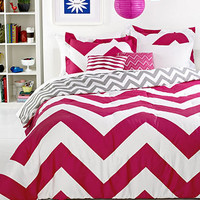 Chevron Pink 5 Piece Comforter Sets - Bed in a Bag - Bed & Bath - Macy's