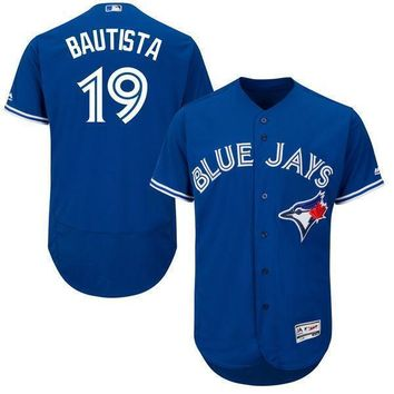 Men's Toronto Blue Jays Jose Bautista Majestic Alternate Bright Royal 2016 Flex Base Authentic Collection On Field Spring Training Player Jersey