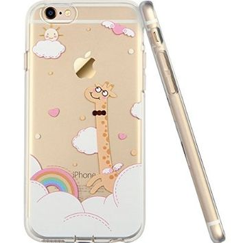 iPhone 6s Case, iPhone 6 Case with Cute Cartoon Pattern, ESR Soft TPU Silicone Back Cover Transparent Skin Ultra Thin Bumper Case for 4.7 inches iPhone 6 iPhone 6s (Cartoon Giraffe)