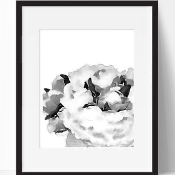 Home Decor, Black White, Flowers, Art, Wall Art, Wall Decor, Digital Print, Printable, Instant Download, Printable Artwork, Digital Art