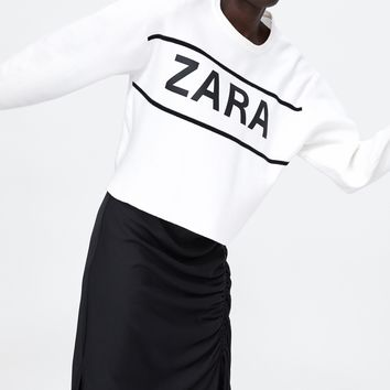 JACQUARD SWEATER WITH ZARA LOGODETAILS