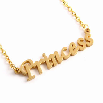 Princess Pendant Necklace
