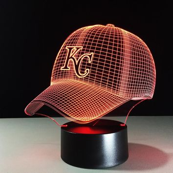Baseball Hat 3D LED Night Light Lamp
