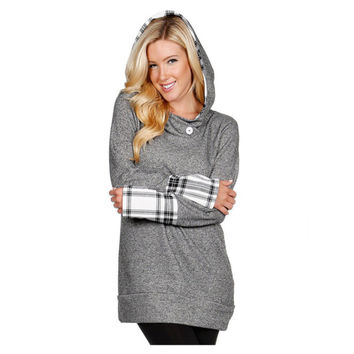 Touch of Plaid French Terry Hoodie