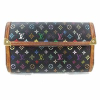 Authentic Louis Vuitton Long Wallet Portefeuille Tresor International 133638