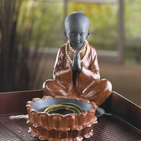 Meditating Sitting Monk Keepsake Treasure Box