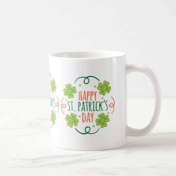 Green and Orange Happy Saint Pats Day Coffee Mug