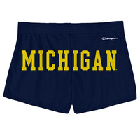 The M Den - Champion University of Michigan Ladies Navy Campus Short