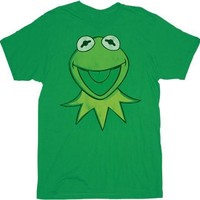 The Muppets Kermit Face Green Adult T-shirt Tee