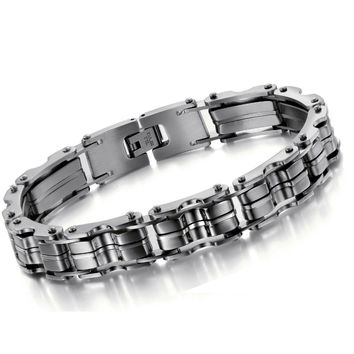 Classic Mens Bracelets Bangles  12.5MM Wide Charm Bracelet Men Fashion Best Friends Jewelry Cool Friendship Mens Bracelets