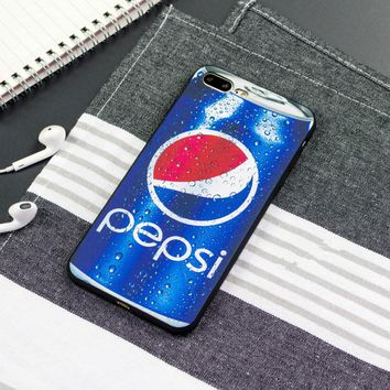 "Unisex Personality ""Pepsi Cola"" iPhoneX/8/6S Silica Gel Soft Shell iPhone7 Plus Couple Apple Phone Case"