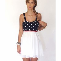 Belted Polka Dress