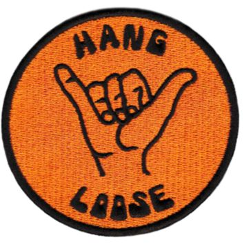 "Cool Vintage Style 70's 80's Surfing ""Hang Loose"" Iron On Patch 8cm"