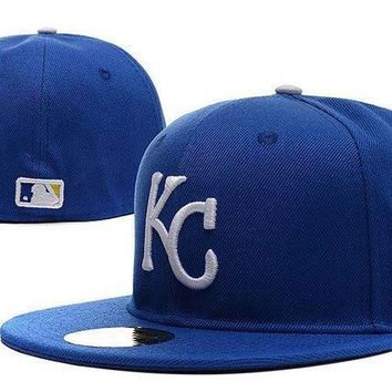 Kansas City Royals New Era 59fifty Mlb Cap World Series Patch Blue