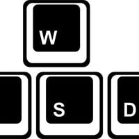 WASD or WADS sticker for computer gamers. Stick to your laptop, computer, car window, keyboard, or whatever.