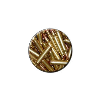 Bullets - Rifle Gun Weapon Lapel Hat Pin Tie Tack Small Round