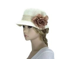 Noonies Boutique Tea Party Cream Hat 10`` w/ 2`` Brim $26.99