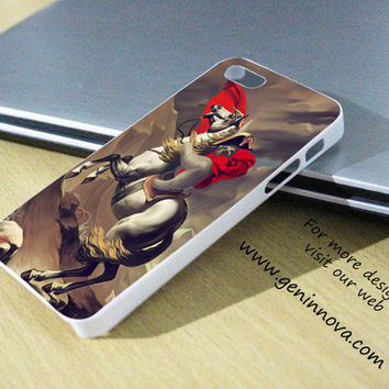 Sloth Napoleon Riding a Horse Samsung Galaxy S3/ S4 case, iPhone 4/4S / 5/ 5s/ 5c case, iPod Touch 4 / 5 case