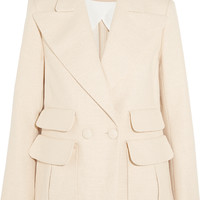 Chloé - Double-breasted woven stretch-cotton blazer
