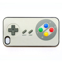 iphone 4 case with NES game controller by wallsparks on Etsy