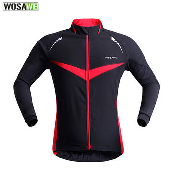 WOSAWE Cycling Jacket Men Windproof Warm Cycling Clothing Sport Ropa Ciclismo Running Jersey Winter Bike Bicycle Cycling Jacket