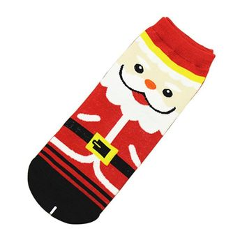 Christmas Socks 3D printed Women Unisex Low Cut Ankle Socks