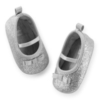 Carter's Glitter Mary Jane Crib Shoes