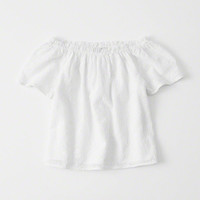 girls Off-The-Shoulder Top | girls dresses & rompers | Abercrombie.com