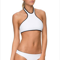 White Halter Bra With Paired Panty