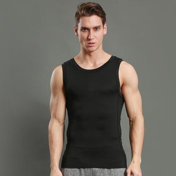 Running Vests Jogging Men  Compress Sleeveless T-Shirt Fitness Athletic Gym ,Men Running Tanktop KO_11_1