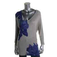 INC Womens Knit Sequined Pullover Sweater