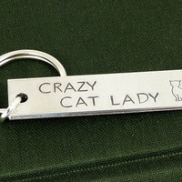 Crazy Cat Lady - Cats - Pets - Aluminum Key Chain