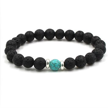 Lava Stone Essential Oil Bracelet - 9 Bead Colors