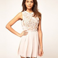 ASOS | ASOS Mini Dress with Rose Applique at ASOS