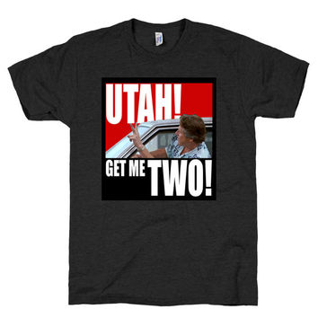 Utah Get Me Two Shirt, Point Break, Gary Busey, Keanue Reeves, johnny utah, quote, Athletic Black American Apparel TShirt