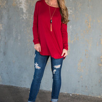 I'm Hooked Tunic, Red
