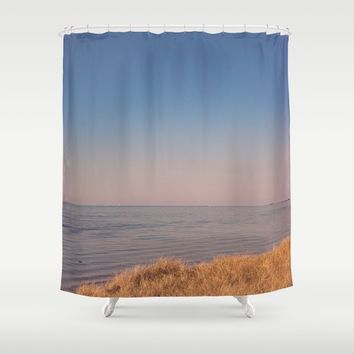 Sit & Wonder Shower Curtain by Faded  Photos